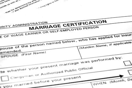 legally: Marriage certification form application to be married legally