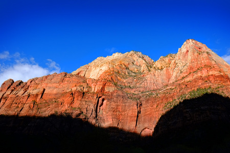 autumn splendor: Cliffs with red canyons and trees