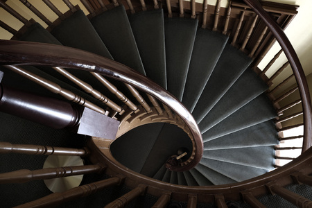 spiral staircase: Spiral staircase in building climbing stairs up down Stock Photo