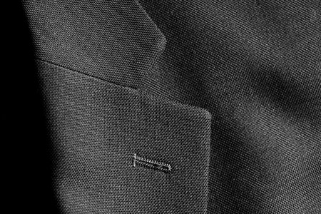 tailored: Lapel of nice suit jacket for man clothing fashion