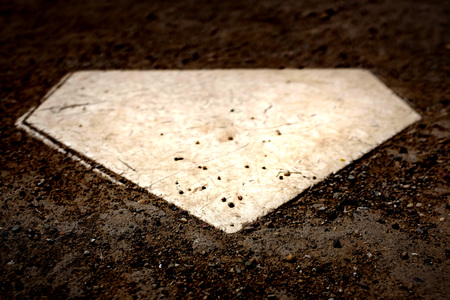 Homeplate home plate used in baseball for scoring and batting