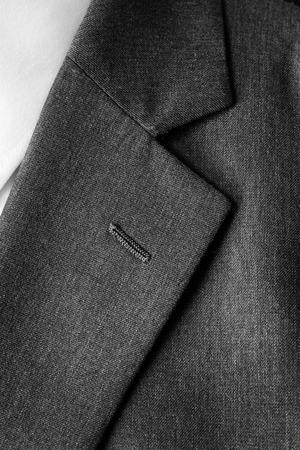 jacket: Primer plano de traje de botones y solapa para el negocio o el desgaste formal Foto de archivo