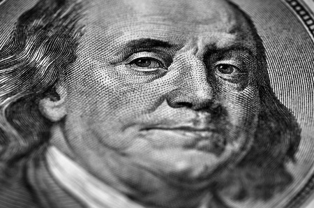 Wealth and Riches represented by American currency and bills