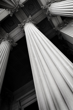 academia: Columns on museum or courthouse building
