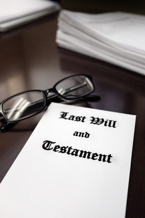 devise: Last Will and Testament on Desk for Estate Planning from Lawyer