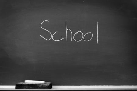 chalk eraser: Chalboard chalk board with eraser for student homework school