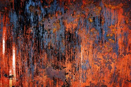 corrode: Detail of rusted metal texture for background