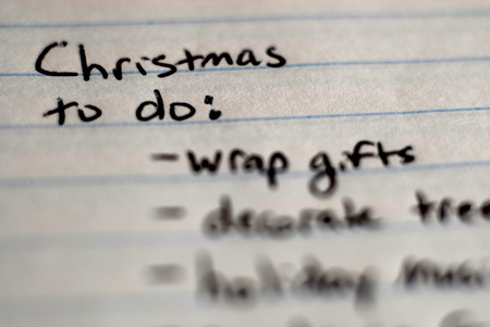 christmas to do list written on notebook for organization stock photo 72553121