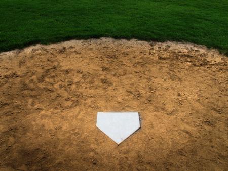 american sport: Home plate baseball sport american Stock Photo