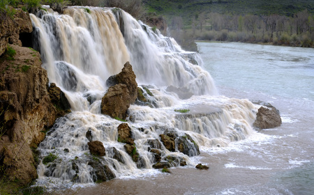 stoney: Fall Creek Water Falls with Snake River flowing