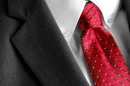 Business suit white shirt and red tie for formal wear fashion Stock Photo