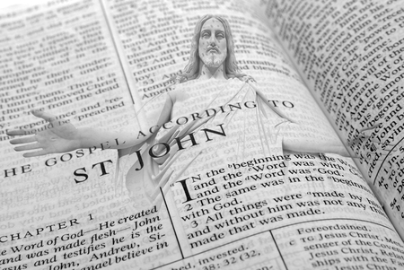 Pages from Bible holy word spiritual religion and Jesus