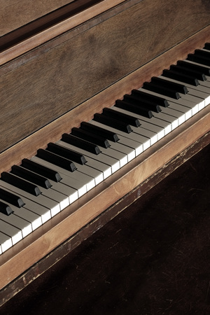 Ebony and ivory piano