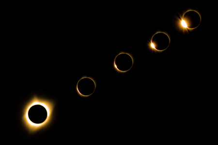 Solar Eclipse of Sun by Moon in North America 2017