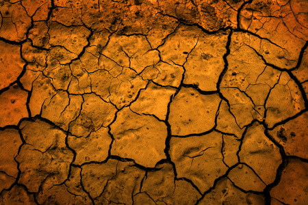 Dried mud in desert parched earth dirt representing climate change and drought 스톡 콘텐츠