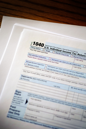 Individual Income Taxes Forms Tax 1040 Imagens - 115028114