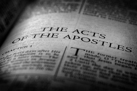 Bible New Testament Christian Teachings Gospel Acts of Apostles Stockfoto