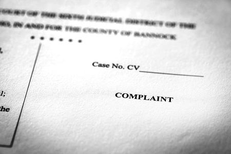 Legal Pleadings Court Papers Law Complaint
