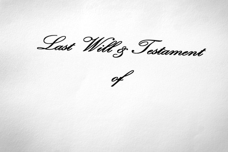 Last Will and Testament document gift giving devise inheritance