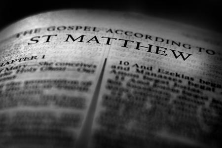 Bible New Testament Christian Teachings Gospel St Matthew Saint