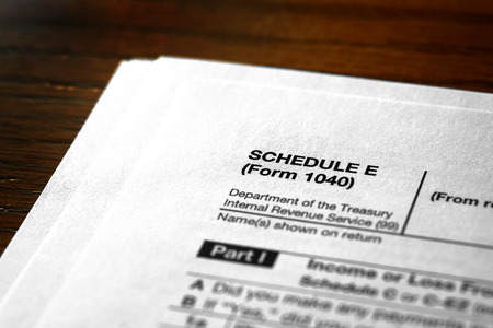 Individual Income Taxes Forms Tax Schedule I Banco de Imagens
