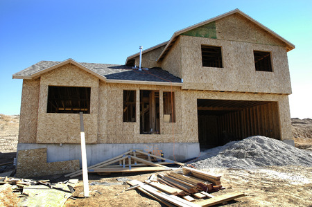Home construction building a house for residential living ownership
