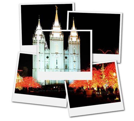 Salt Lake City Mormon Temple Christmas Lights December Utah film frame photographs