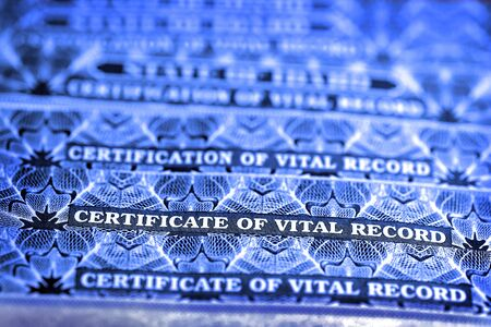 Several Certificate of Vital Records for Birth