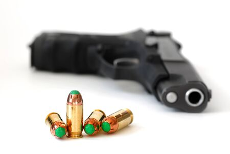 Bullets and gun for self defense or the military Second 2nd Amendment Rights