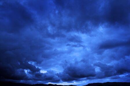 Dark stormy rain storm clouds fierce temptest