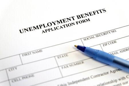 Written unemployment benefits application form