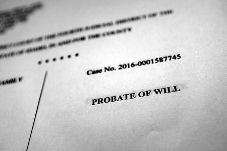 Probate filings court document estate planning legal proceedings