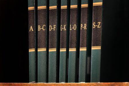 Index guide to law books on shelf library legal reading reference