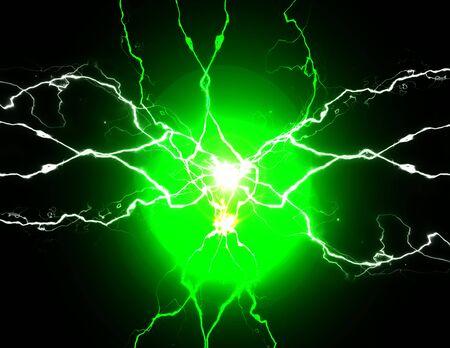 Énergie verte avec des boulons de fusion crépitants de puissance de plasma électrique