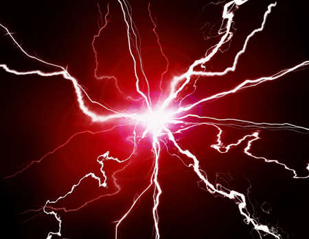 Red energy with electrical electricy plasma power crackling fusion
