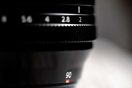 Lens with aperture ring for photography optics focal length
