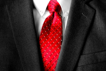Business suit white shirt and red tie for formal wear fashion Imagens