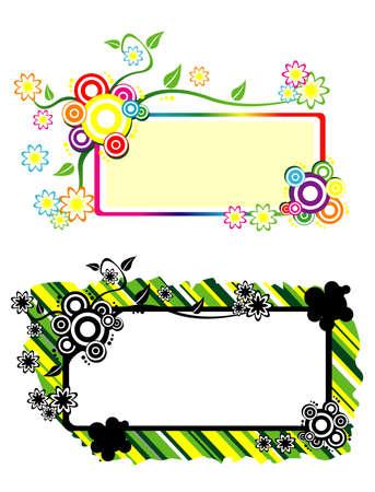 Colourfull Flower Vector Text Box