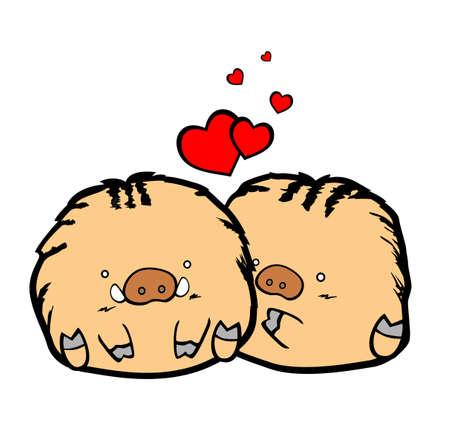 Pig Pig Love   Vector