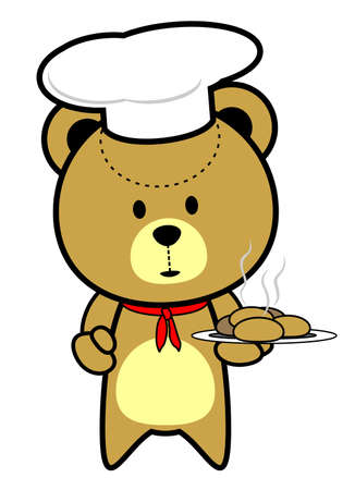 Cute Teddy Bear Chef Cook