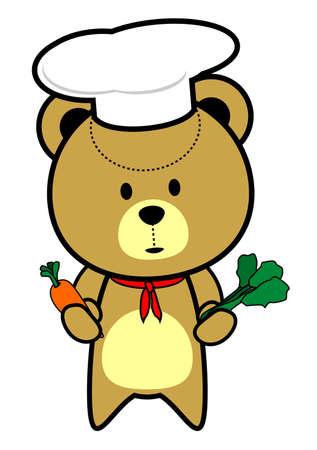 Cute Teddy Bear Chef