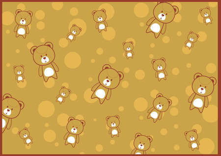 cute teddy background Vector