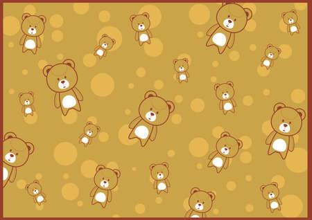 cute teddy background Illustration