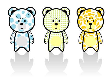 colorful cute bear vector Vector
