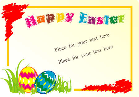 Easter Egg Text box, Background Vector