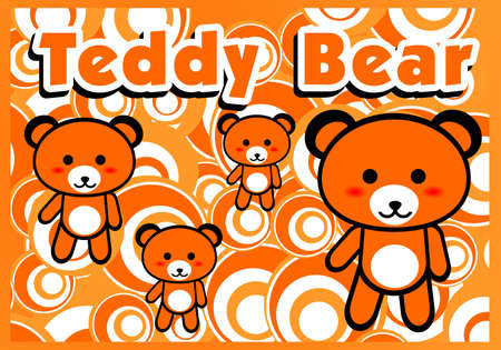 Teddy Bear with Background Illustration