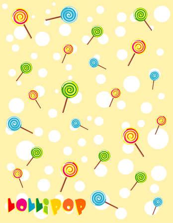 Arri�re-plan Lollipop Illustration