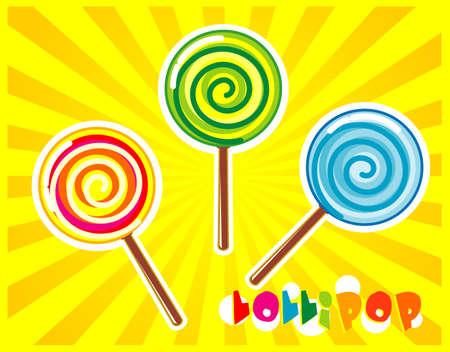 Cute Lollipop Vector