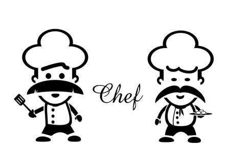 utencilios de cocina: Chef de arte vectorial Vectores