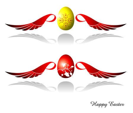 Angle Easter Egg Illustration